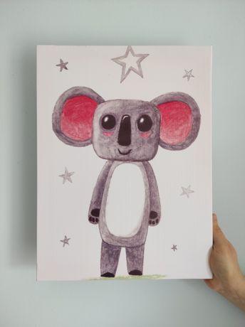 Quadro infantil NOVO - Koala