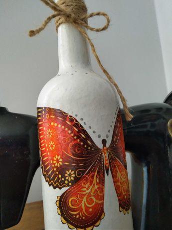 Butelka handmade motyl