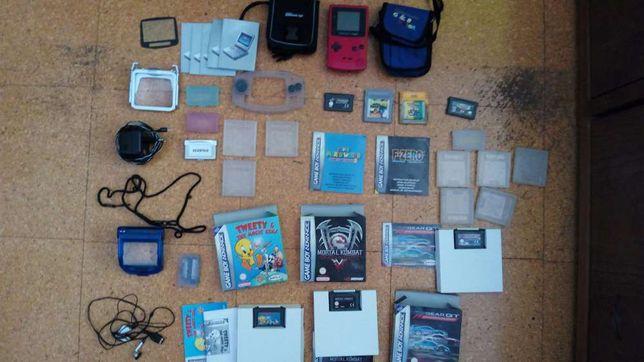 Material, jogos e acessorios game boy
