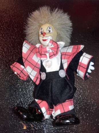 OKAZJA!!!RARYTAS!!!Clown Doll Vintage Circus Toy Porcelain Makeup Face