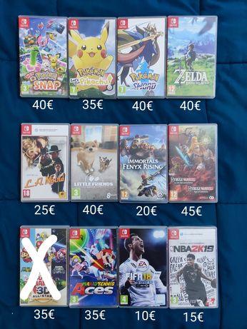 Jogos Nintendo Switch / wii u / wii / DS / 3DS (Mario zelda pokemon)