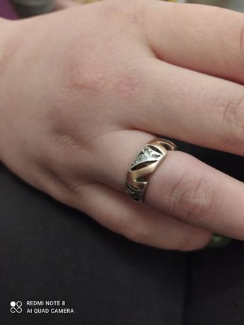 Серебро. Кольцо. 17,5.