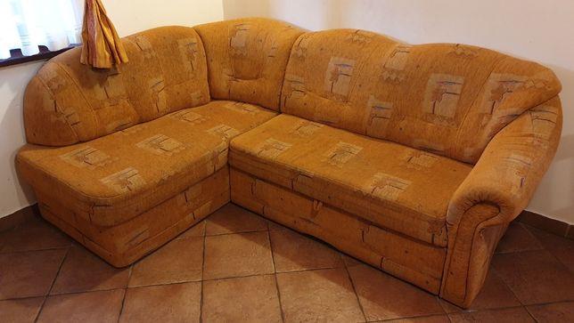 NAROŻNIK Z FUNKCJĄ SPANIA rozkładany - sofa narożna, kanapa, wersalka