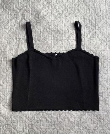 Czarny top Zara 38 M na ramiączka