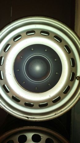 Jantes 15' VW Caddy 5×112 com tampas originais