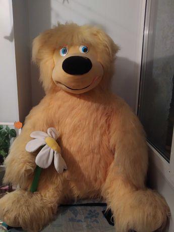 Мягкая игрушка медведь мишка Тедд с ромашкой