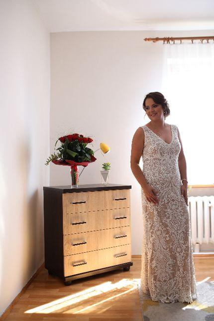 Suknia ślubna r.40 koronka