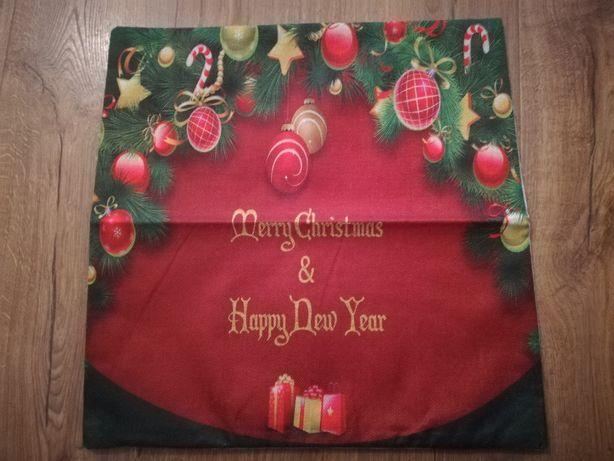 Poszewka, powłoczka na poduszkę, świąteczna, bombki, choinka
