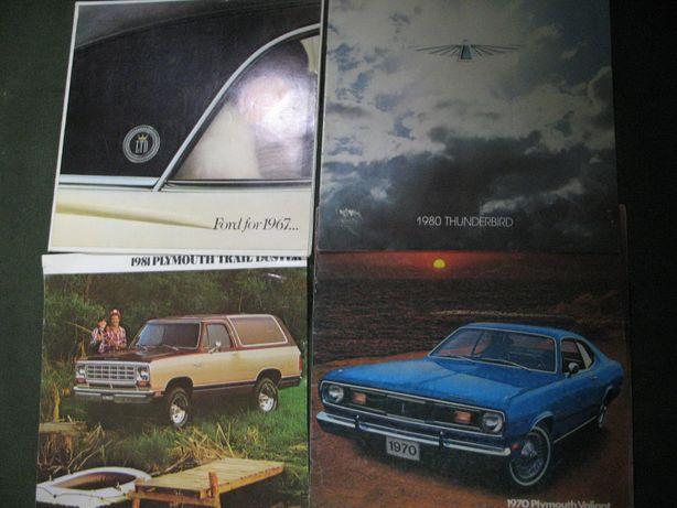 Рекламный брошюры, проспект, каталог, буклет, буклеты 60-80-е годы США