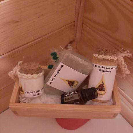 Conjunto de produtos para o Banho