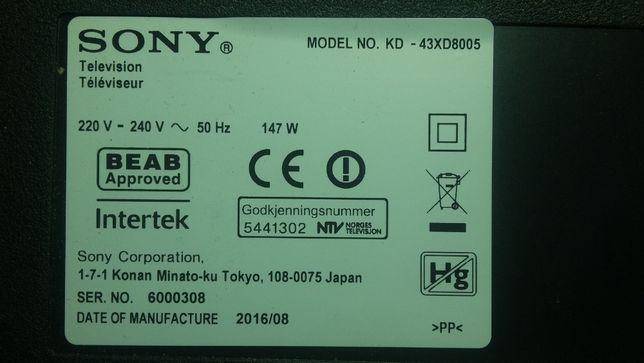 1-980-837-11;Sony 43XD8005:9005:Main: 198083711;ЧИТАТЬ