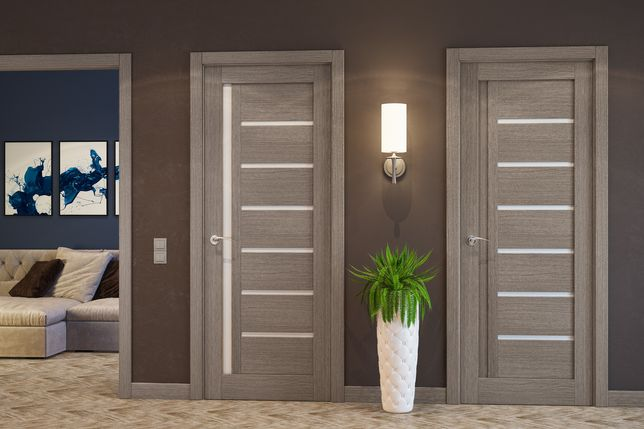 Міжкімнатні двері Папа Карло. Шпоновані двері.Гарантія 5 років
