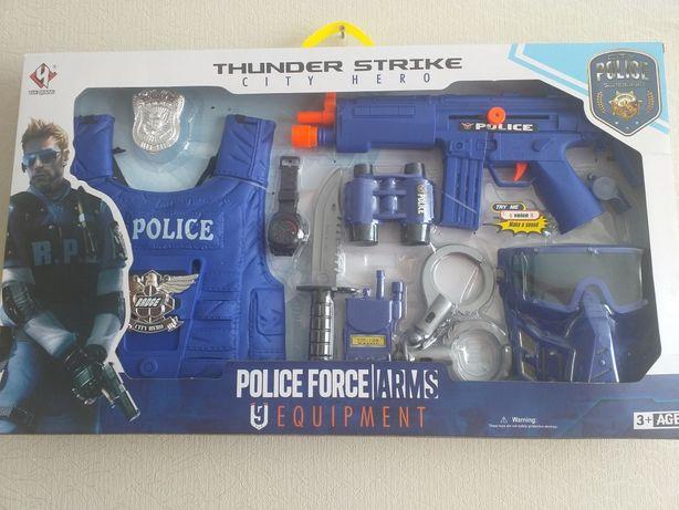 Детский игрушечный большой набор полицейского с бронежилетом от 3 лет