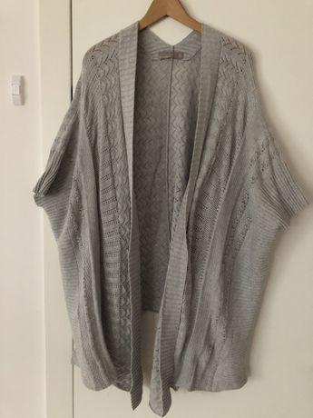 Sweter ponczo Zara M szary