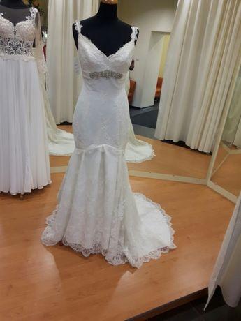 Suknia ślubna koronkowa rybka syrena 36 38 LUBLIN WYPRZEDAŻ