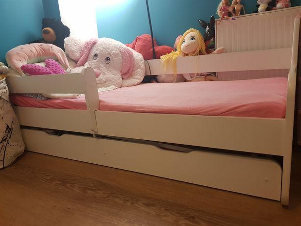 Łóżko dla dziecka 160x80 białe + materac