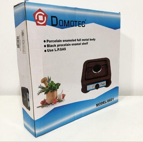 Газовая плита DOMOTEC MS-6601 на 1 конфорку. Цвет: коричневый