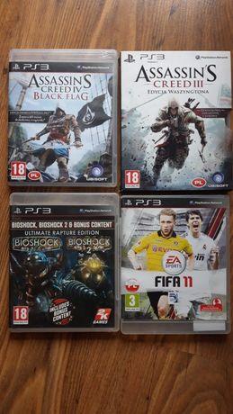Gry PS3 - Assassin's Black Flag, Creed III, Bioshock, Fifa 11