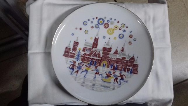 Prato decorativo Natal Fabrico Alemão Porcelana