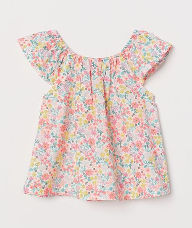 H&M 98/104 nowa bluzka w kwiatki top koszulka