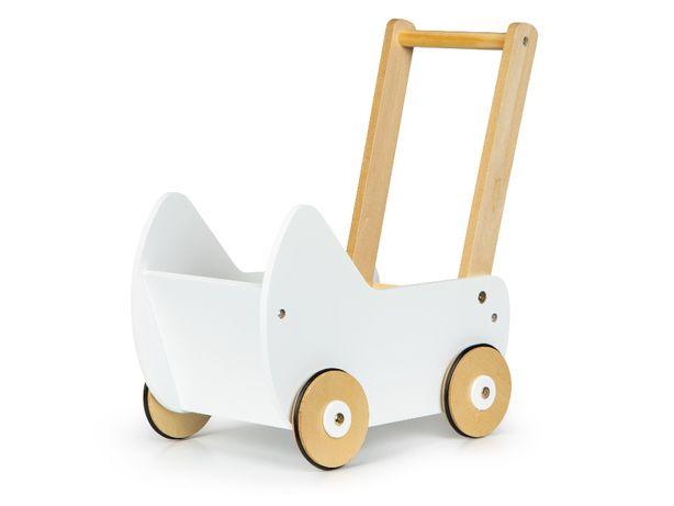 Drewniany wózek dla lalek pchacz chodzik zabawka ECOTOYS # ESC-W-0173
