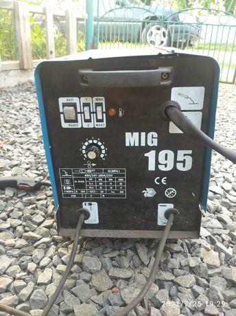 Зварювальний напів автомат e-lan mig 195