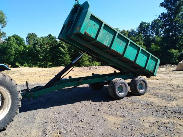 Przyczepa hakowa Kellfri tandem wywrotka,7-8 ton