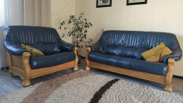 Продам кожаную мебель диваны 3 + 2