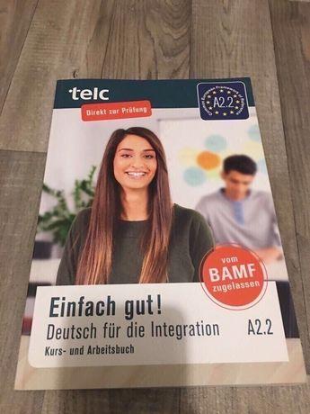 Книжка з німецької мови Telc A2.2 хто хоче парацювати в Німеччин