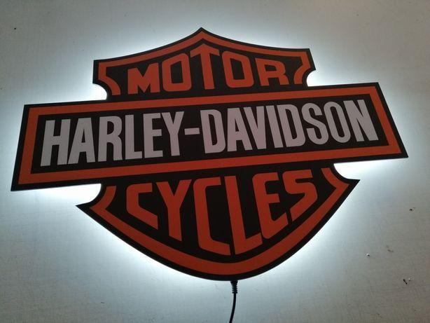 Logo lampka led dekoracja Harley-Davidson