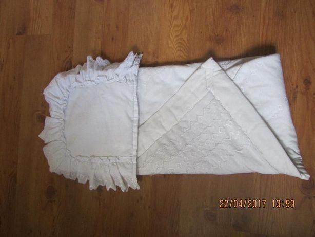 komplet do chrztu- kołderka i poduszka