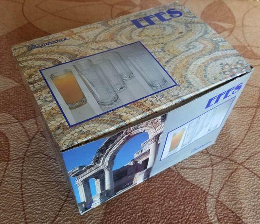 Новый набор стаканов (6 штук) EFES Pasabahce (Турция) 430 мл / коробка