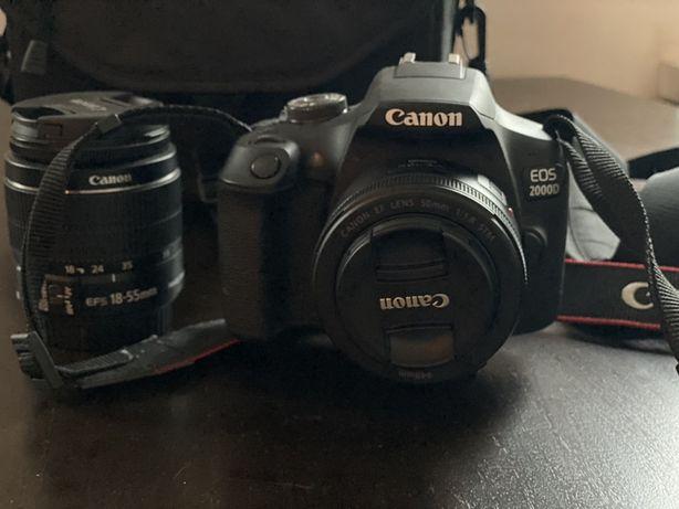 Canon EOS 2000D + 2 obiektywy
