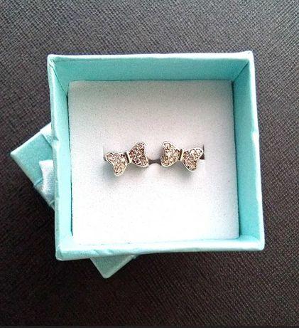 Серьги Бантики детские серебряные серьги серебро 925