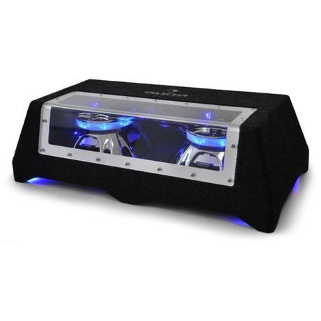 Subwoofer samochodowy LED 2 x 800W