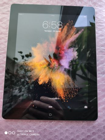 Apple iPad 2/64G( А 1396)- WiFi- зарядка в комплекте.