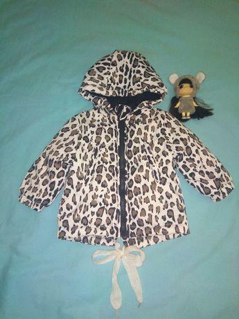 Куртка демисезонная на новорождённую девочку 4-7 месяцев