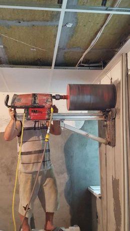 Сверление отверстий в бетоне алмазная резка стен демонтаж-ные работы