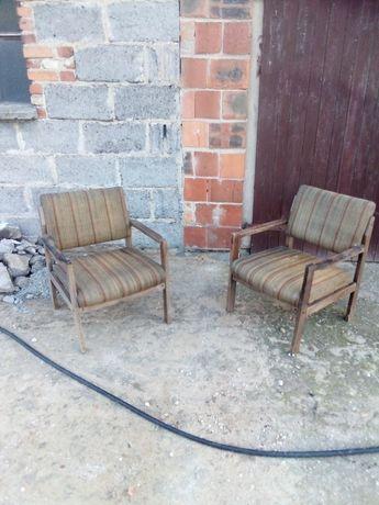 Fotel, fotele PRL, stare, prawie antyk(nie krzesło ani taboret)