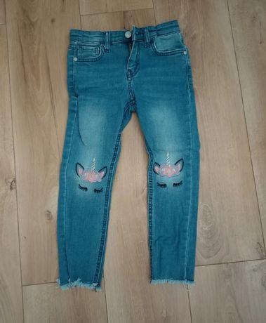 Spodnie jeansy jednorożec