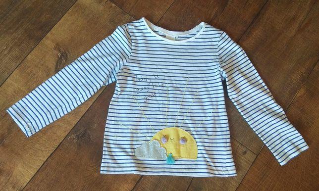 Кофта футболка реглан морячка тельняшка 4-5л 110см next