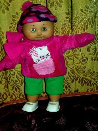 Śliczna lalka bobas, typu kapusta Lolek wys, 23 cm, stara
