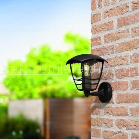 Lampa ogrodowa ścienna PHILIPS CREEK czarna 1X60W 230V E27