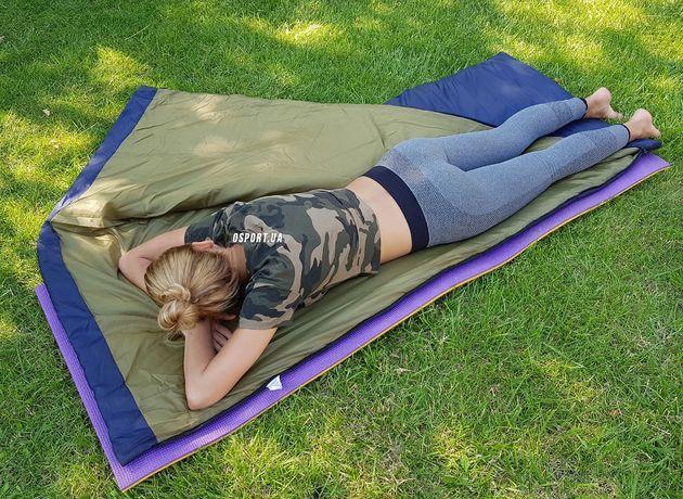 Спальник/Спальный мешок/одеяло в палатку на каремат/коврик летний/лето