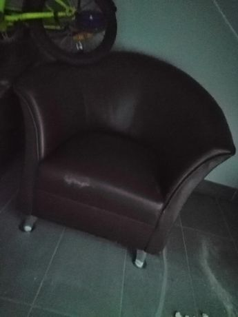 Fotel skórzany 3 szt