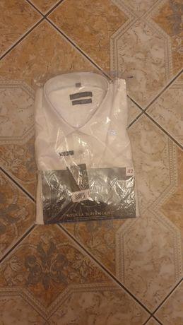 Koszula biała z długim rękawem