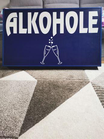 Szyld Alkohe reklama podświetlana