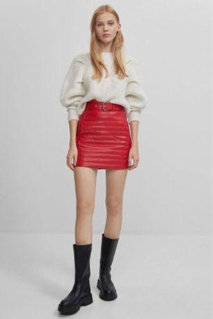 Bershka юбка красная