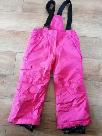 Różowe spodnie narciarskie zima śniegowce 116 Smyk