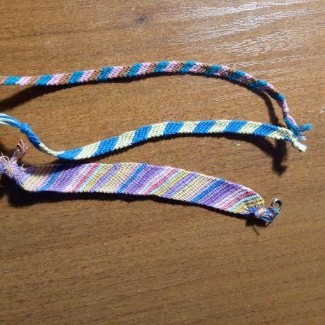 Плетеные браслеты ручной работы